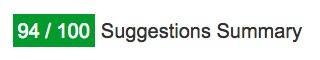 Google PageSpeed Result