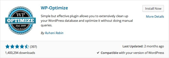 WP-Optimize Plugin Install